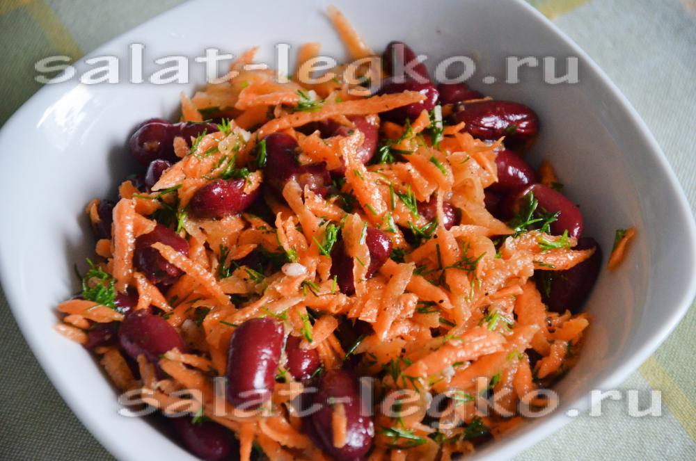 Салат гранатовый браслет с морковью по-корейски