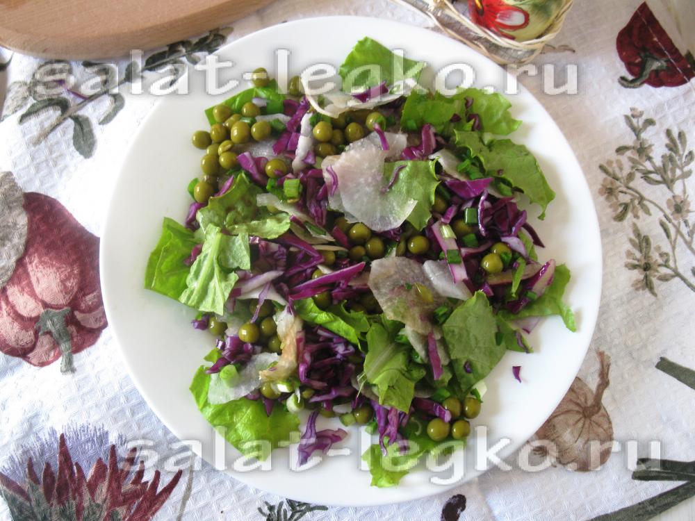 Рецепт салата из фиолетовой капусты