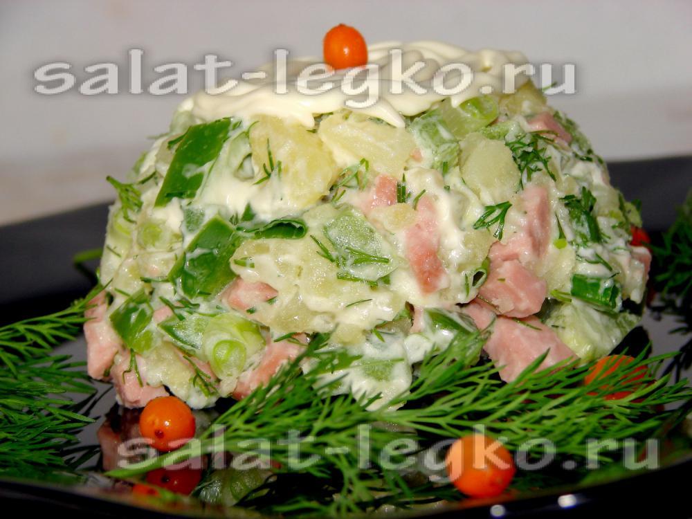 Салат с сардельками рецепт с