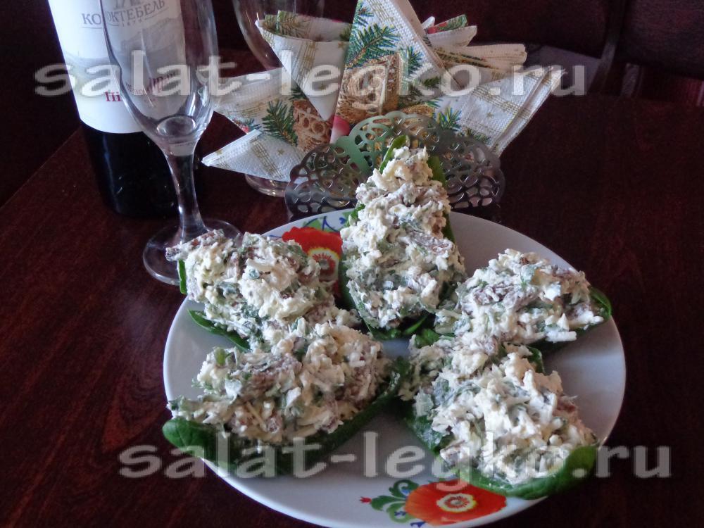 рецепт сырного салата с чесноком и