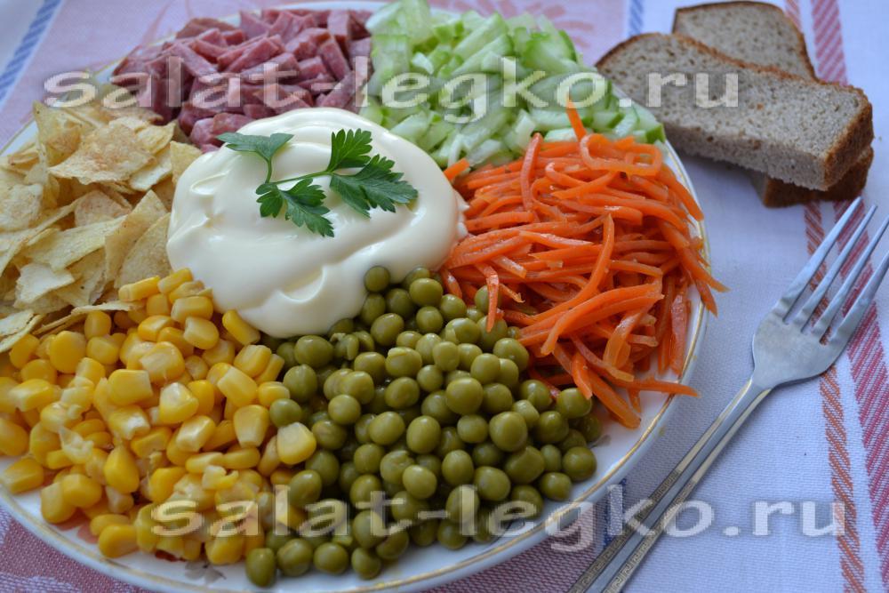 салат фото радуга с чипсами рецепт с фото