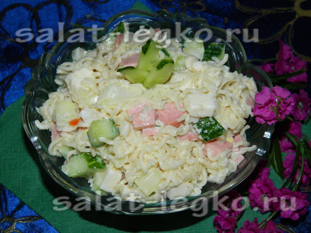 Рецепт салат с мивиной рецепт пошагово