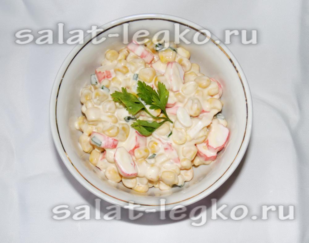 салат из крабовых палочек с луком рецепт