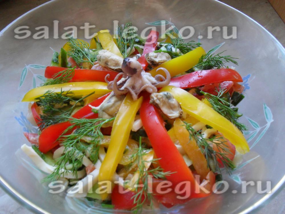 Украшения на салаты из овощей 24
