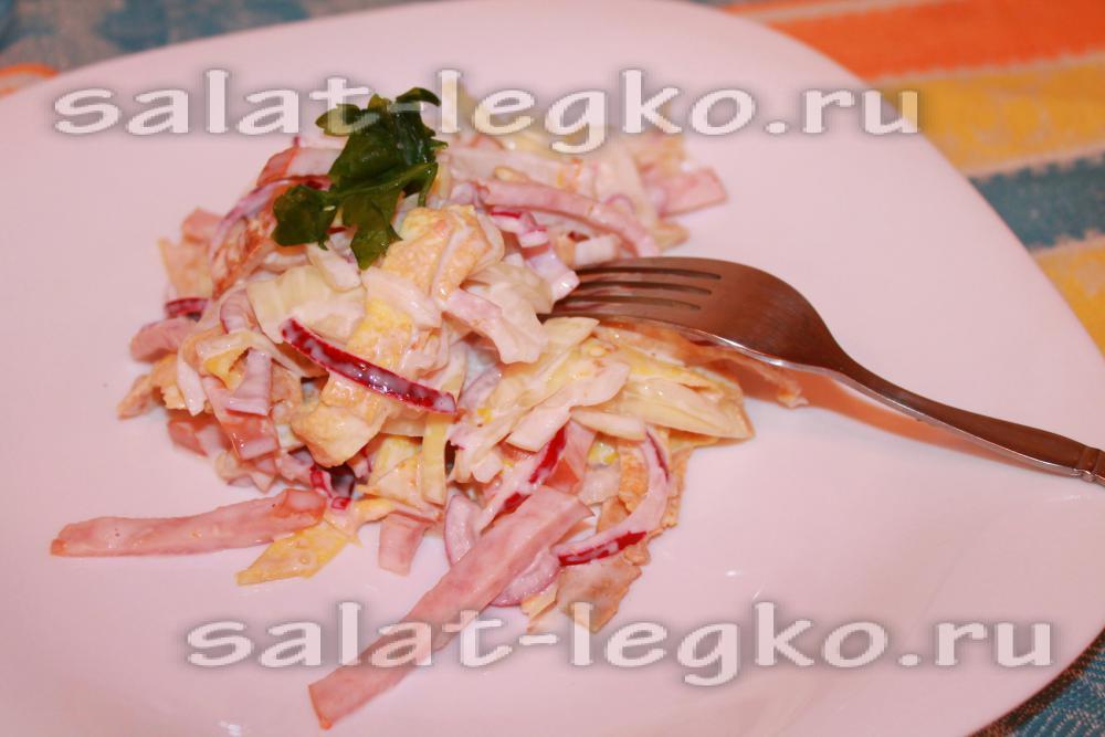 Салат с луком и уксусом