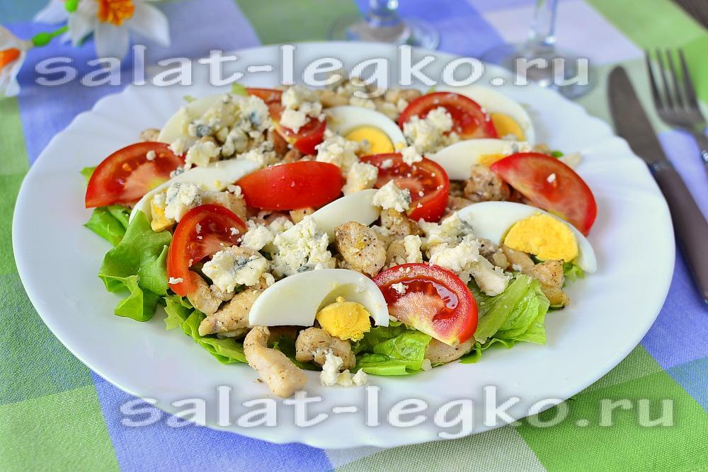 Рецепт салата из жареной курицы