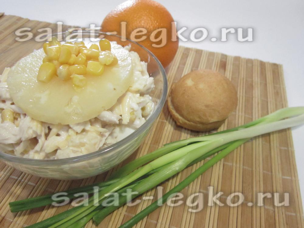 рецепт приготовления курицы с ананасом
