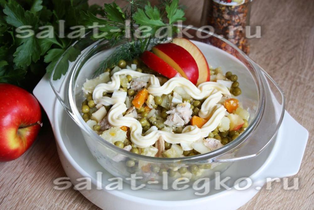 салат с грибами классический простой рецепт