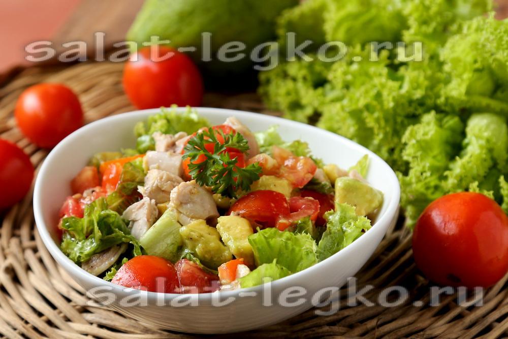 Салат с авокадо и куриной грудкой рецепт
