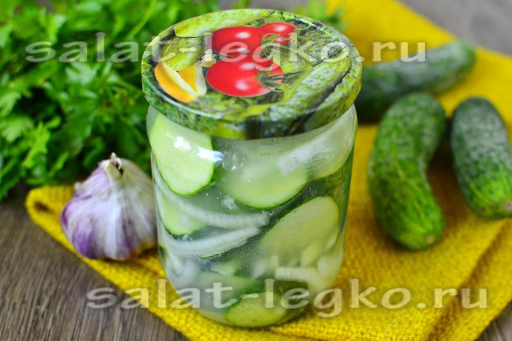 Салат нежинский из огурцов рецепт и фото