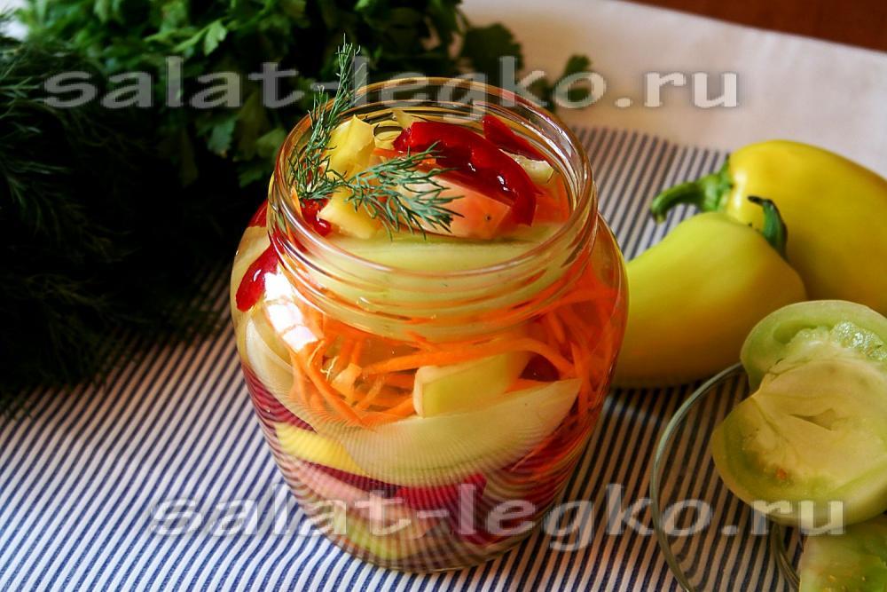 Самый вкусный из зеленых помидор на зиму