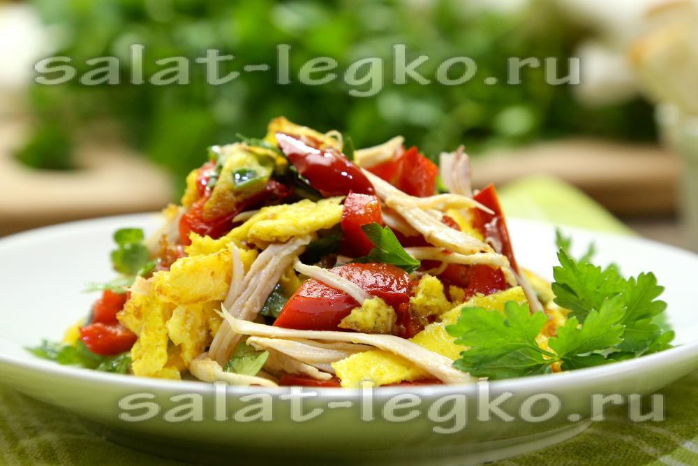 приготовление легких салатов фото рецепт