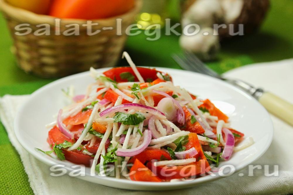 Салаты с репой рецепты с простые и вкусные