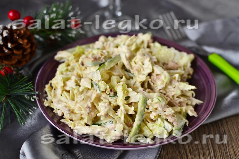 Салаты с тунцом консервированным и свежим огурцом рецепты 34