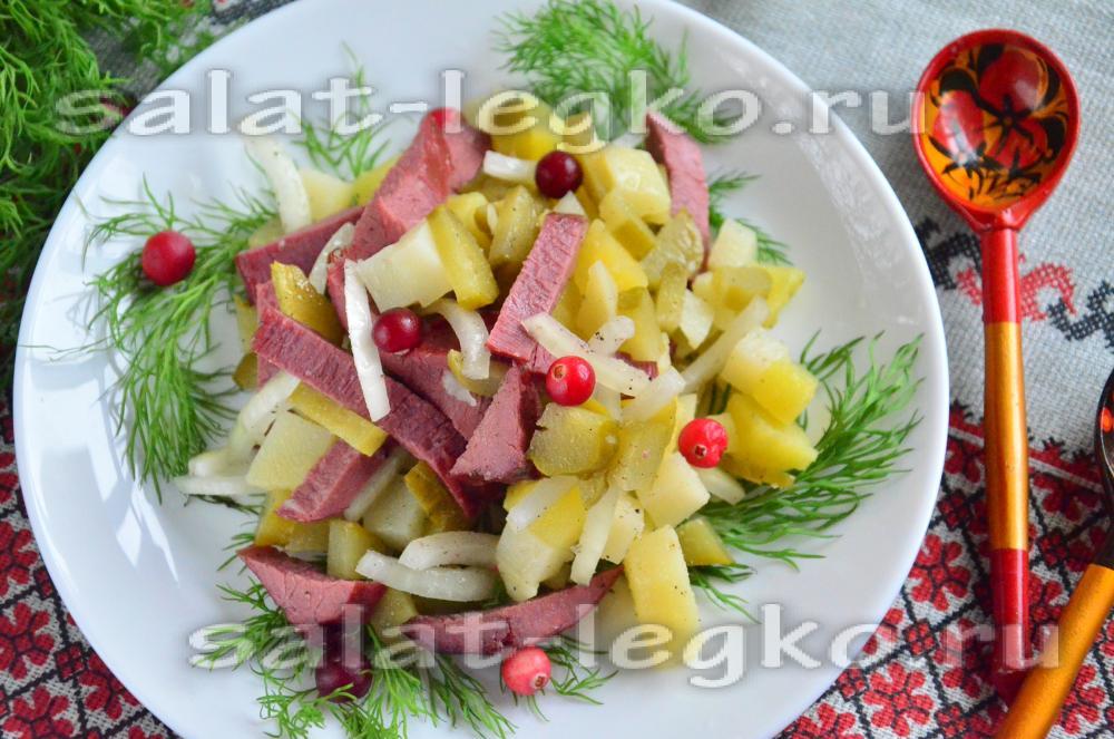 Рецепт салат с дворянский