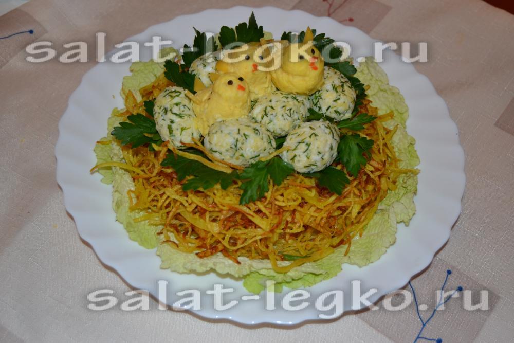 Салат глухарь с грибами рецепт