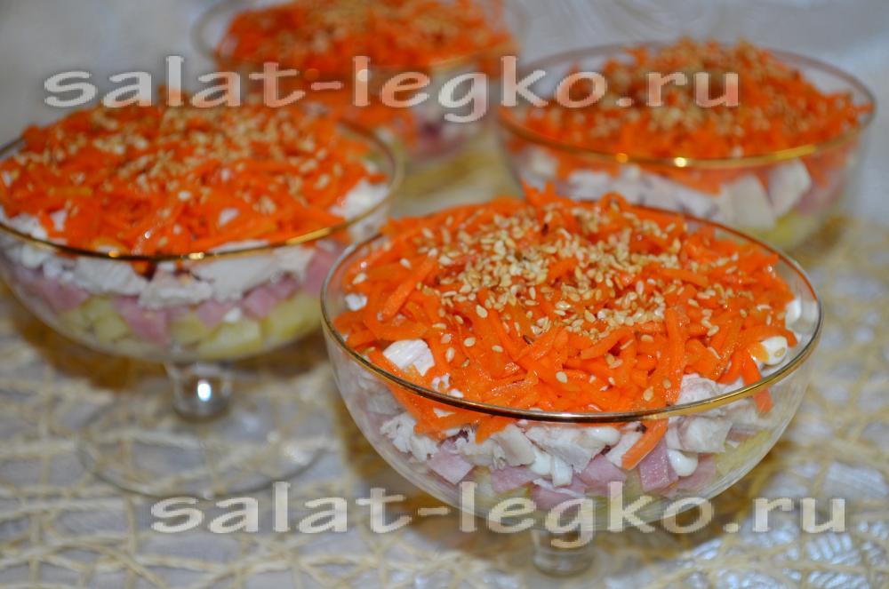 Овощной салат с пекинской капустой рецепты с фото простые и вкусные