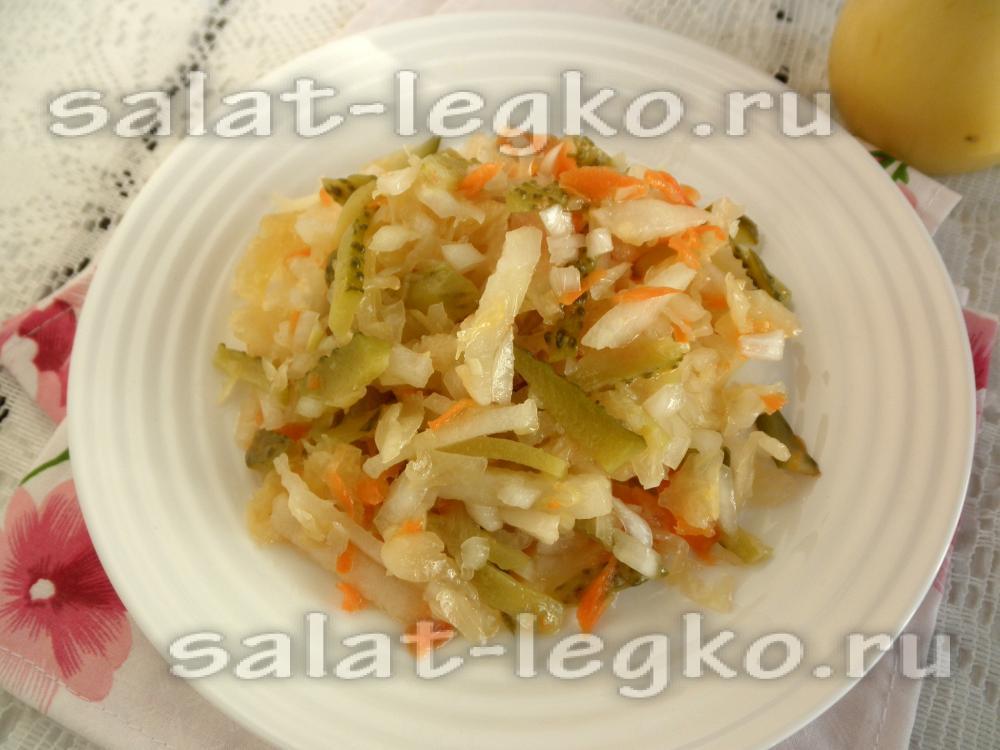 салат из капусты с солеными огурцами рецепт