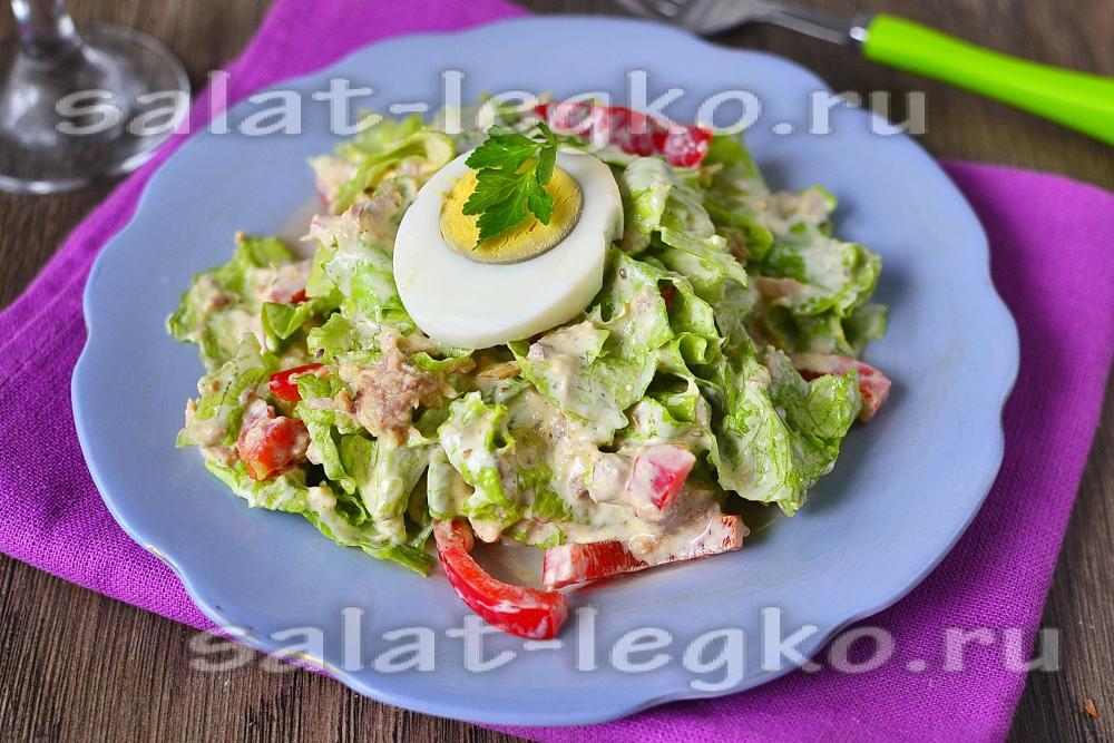 Рецепт диетического салата из тунца консервированного