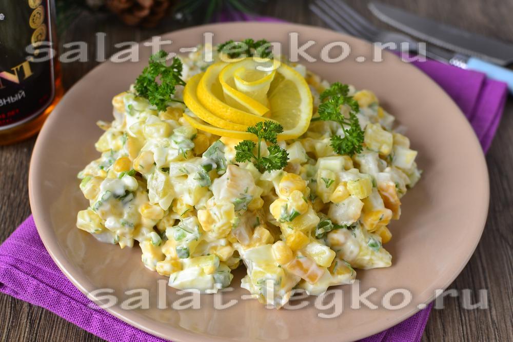 72 Праздничные салаты с кальмарами рецепты