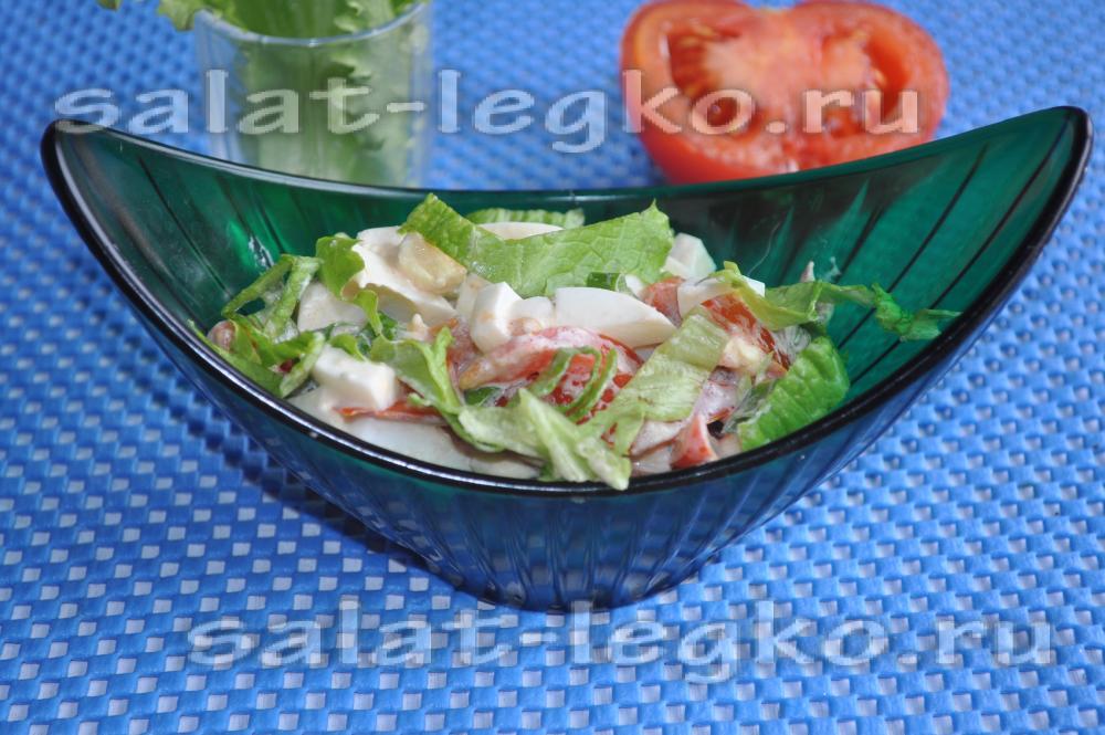салат с листьями салата и черри рецепт