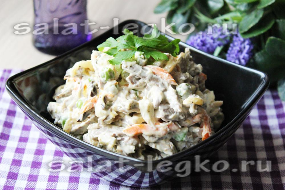 салат с тресковой печенью фото рецепт