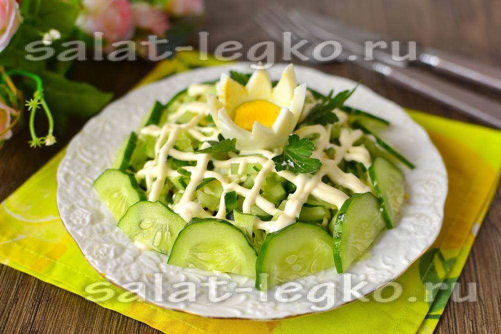 Салат огурец чернослив яйцо