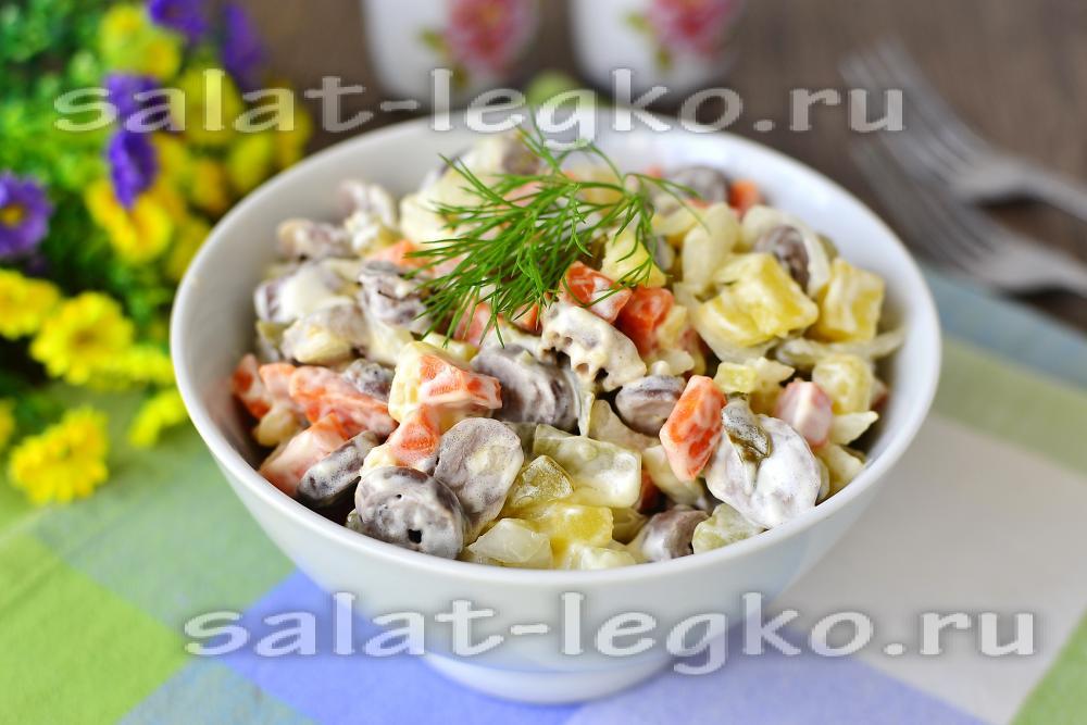 Из сердец салат рецепт с пошагово
