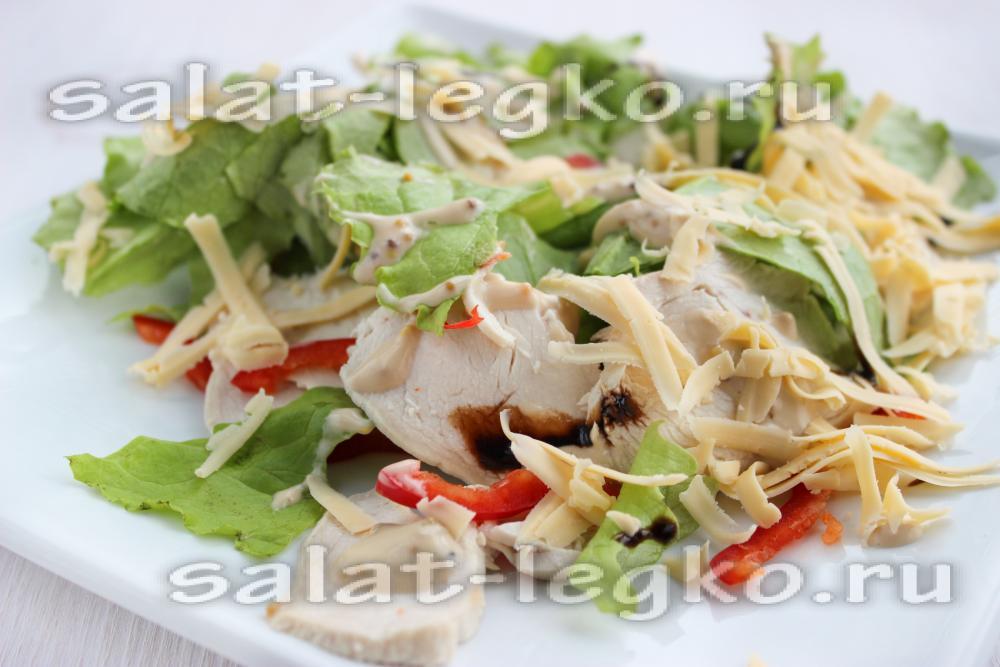 рецепт салата с копченой куриной грудкой рецепт с фото