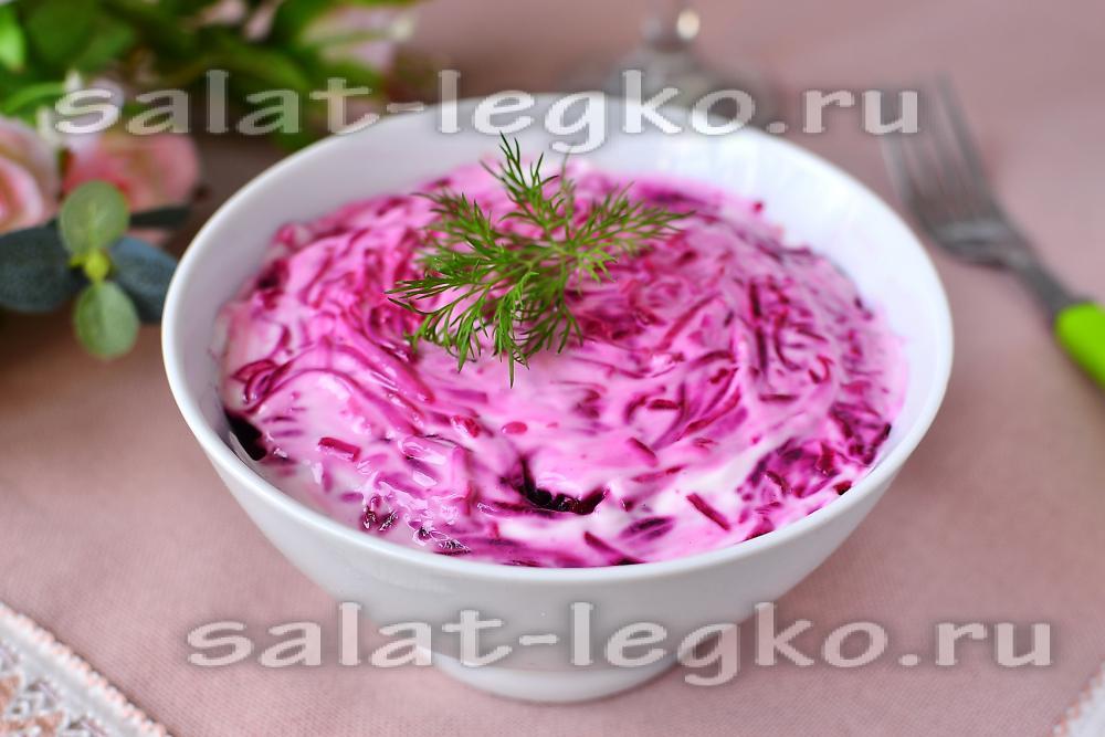 Легкие салаты с майонезом рецепты