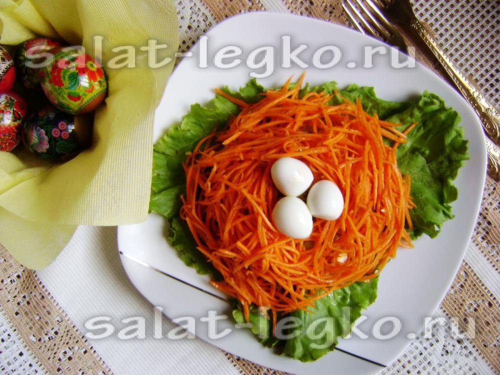 рецепты салата перепелиное гнездо