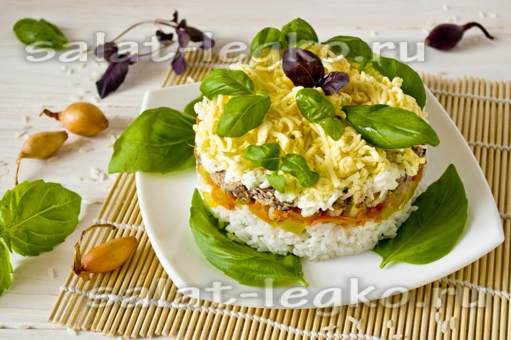 Салат с сардиной и рисом рецепт с