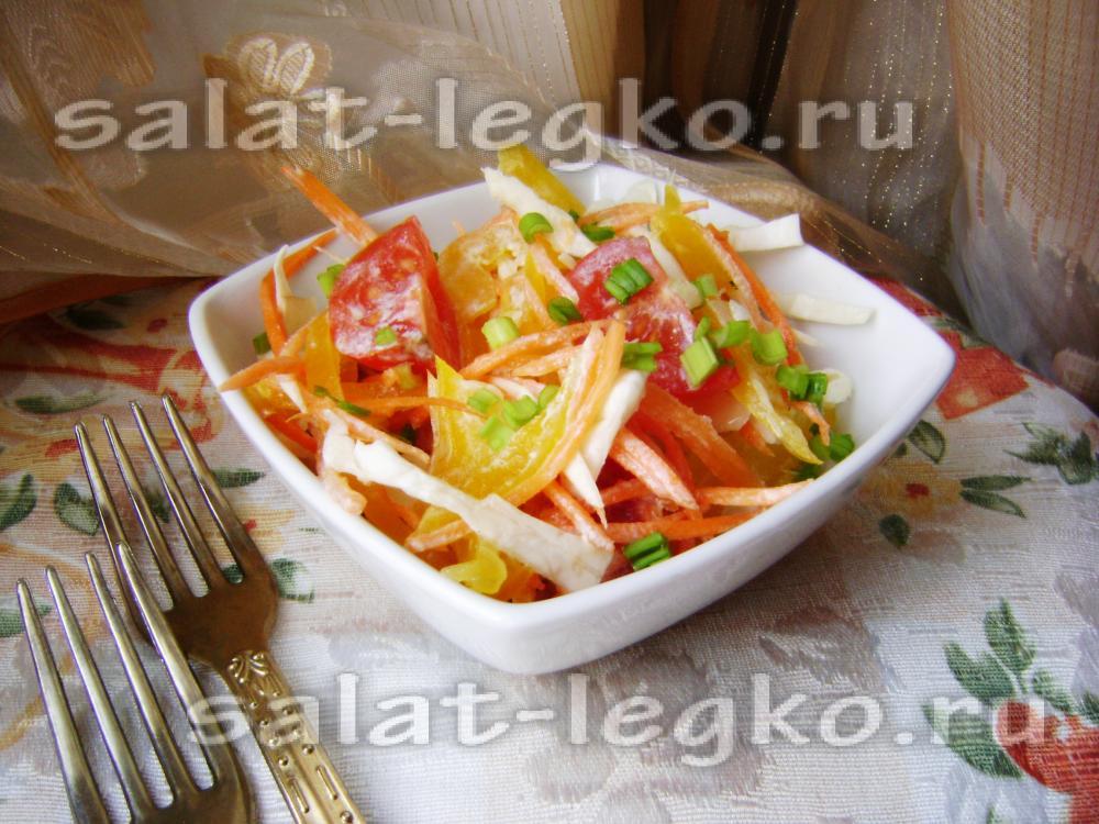 рецепт салата с болг перцем