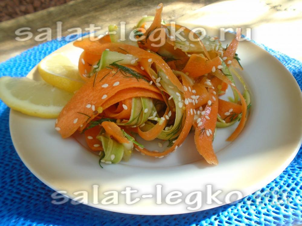 Салаты из сырой моркови рецепты с