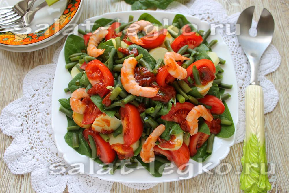 Салаты с морепродуктами рецепты с вкусные
