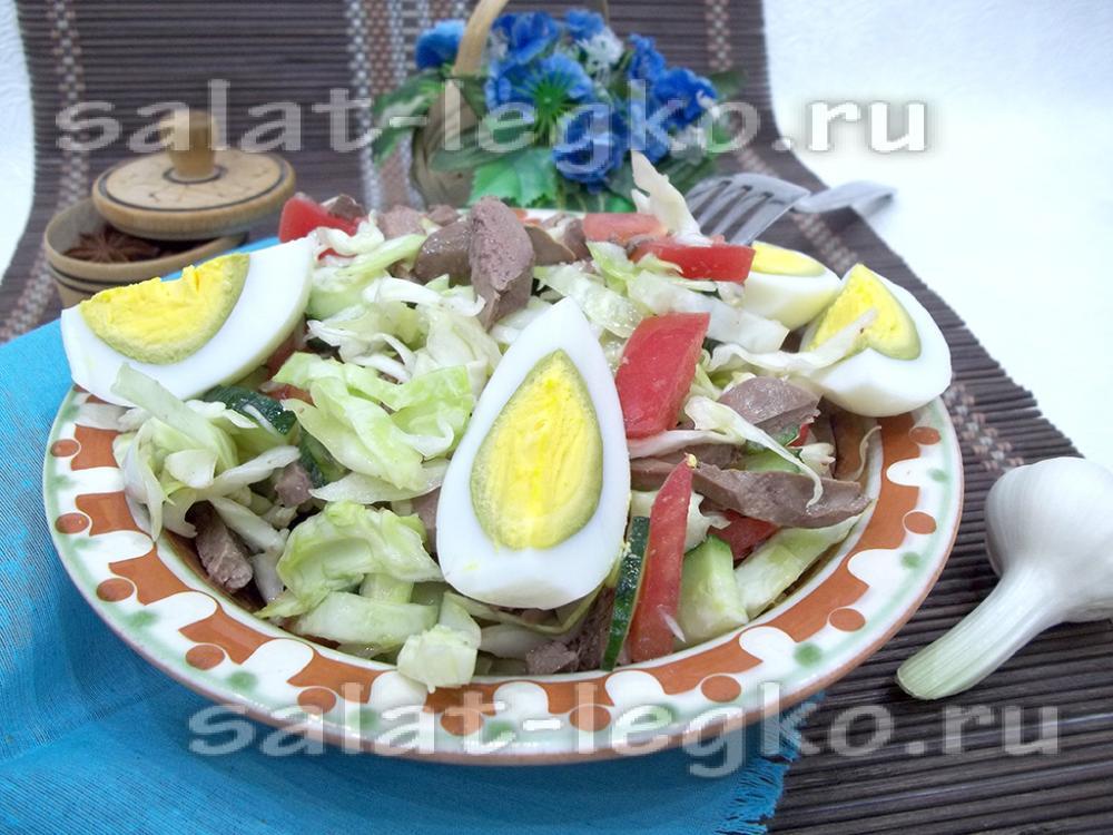 Салат цезарь вегетарианский рецепт