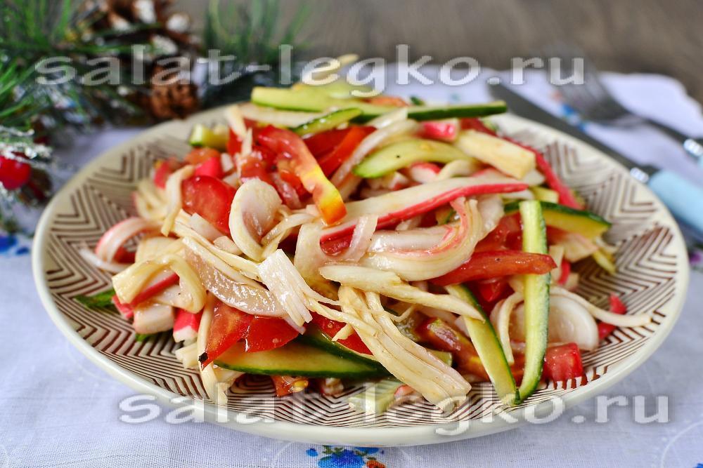 легкий салат без майонеза рецепт с фото