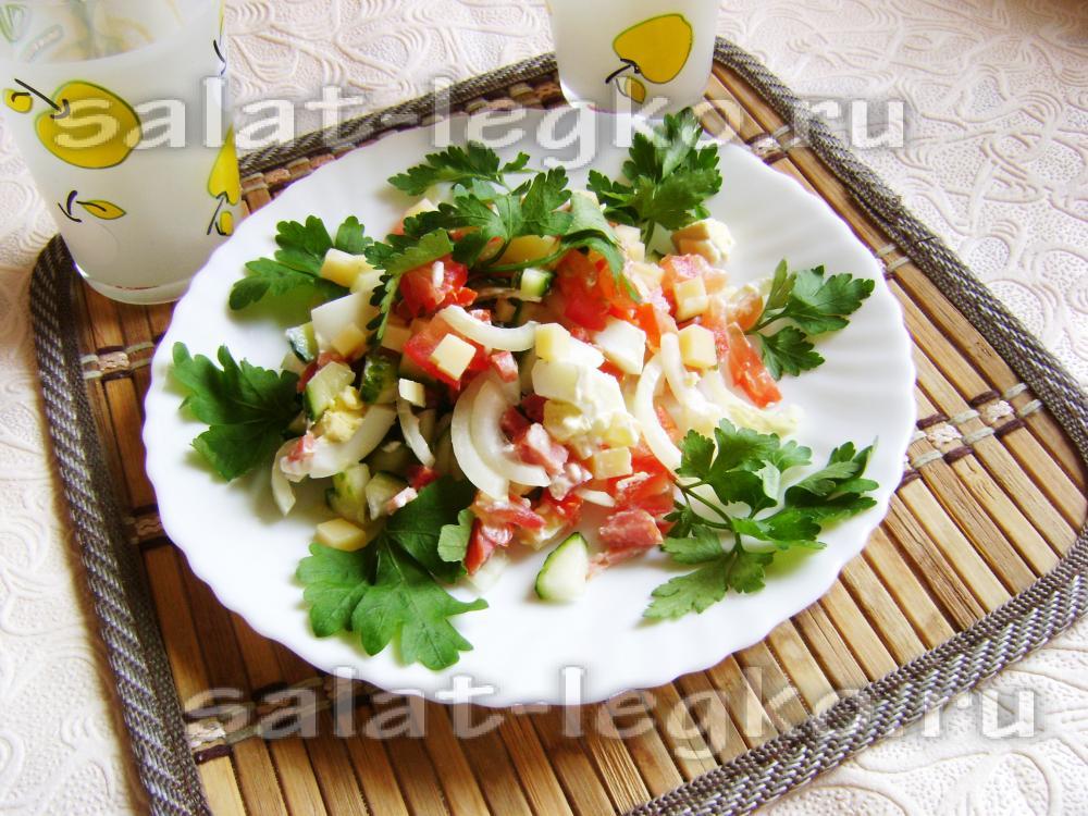 Быстрые но вкусные салаты с