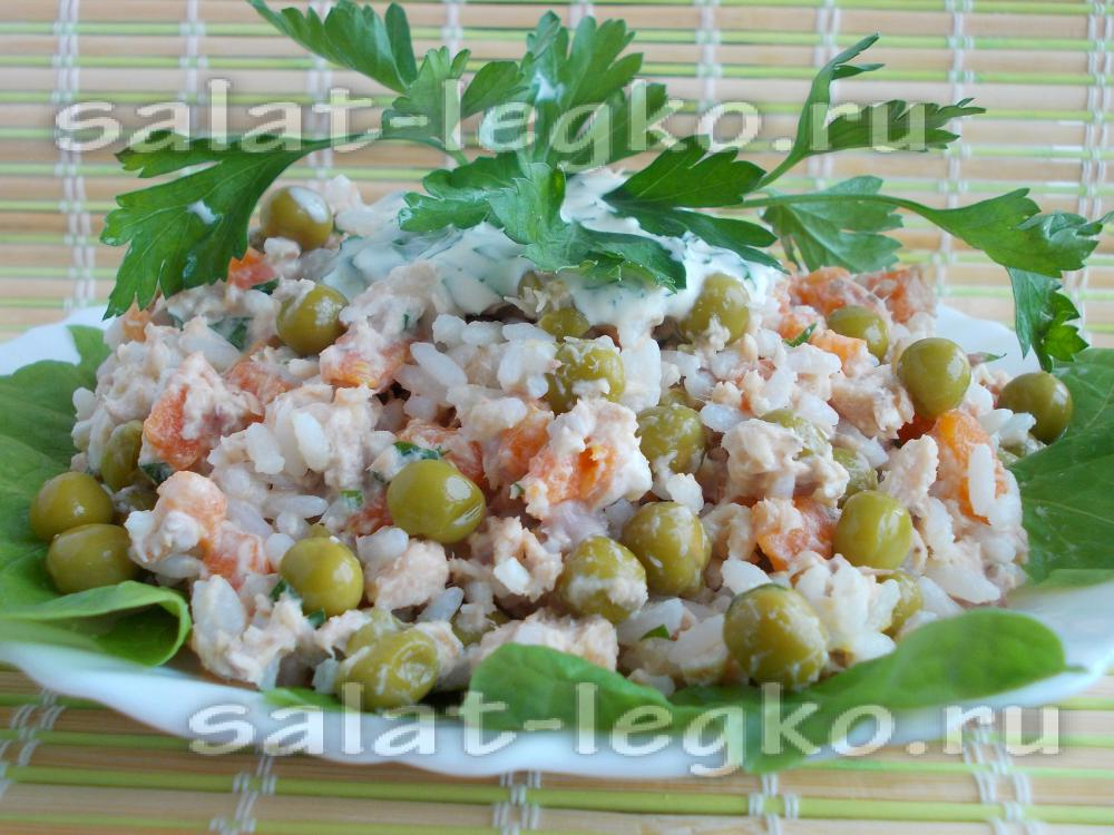 рецепт рыбного салата из горбуши