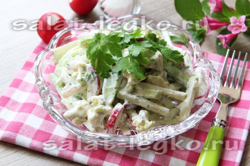 салат из капусты диетический