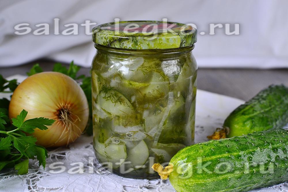 Салат из перезрелые огурцы на зиму рецепты