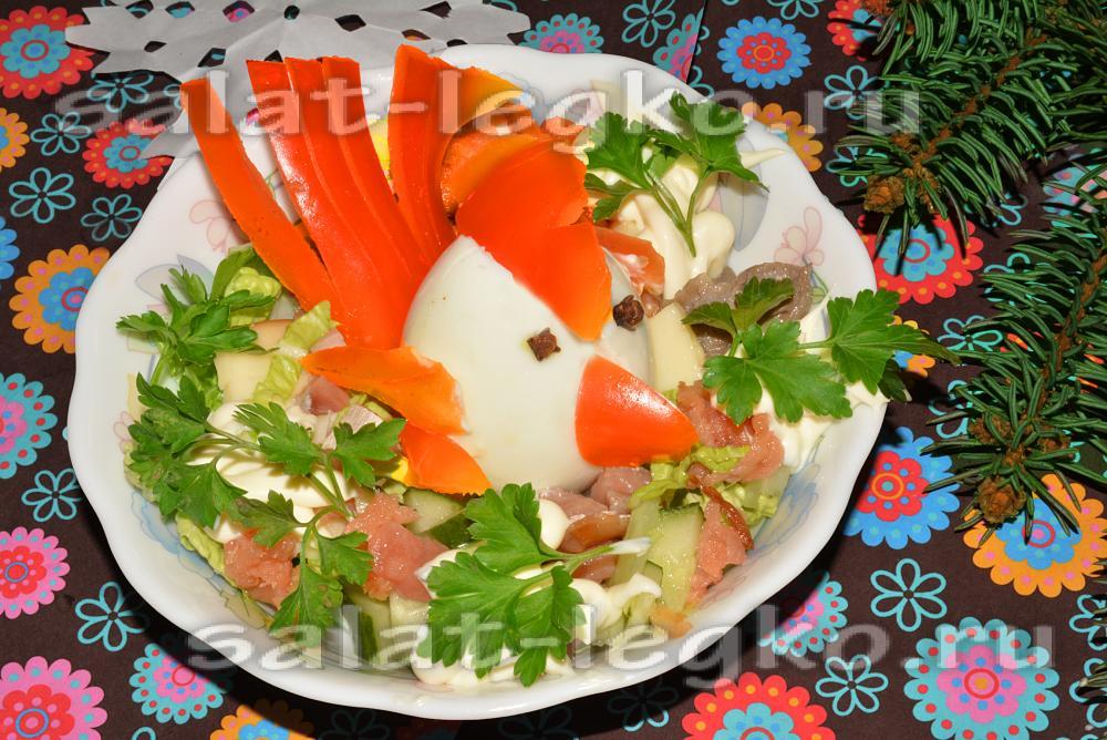 рецепты салатов из морепродуктов к новому году 2018
