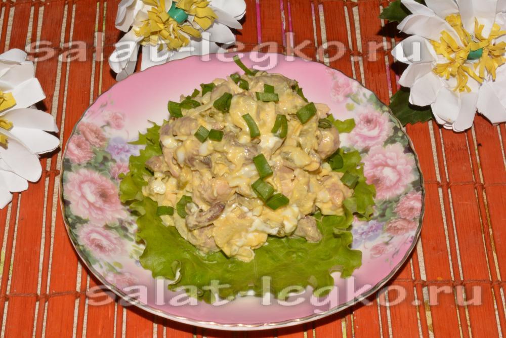Вкусные и недорогие салаты с курицей рецепты с простые и вкусные