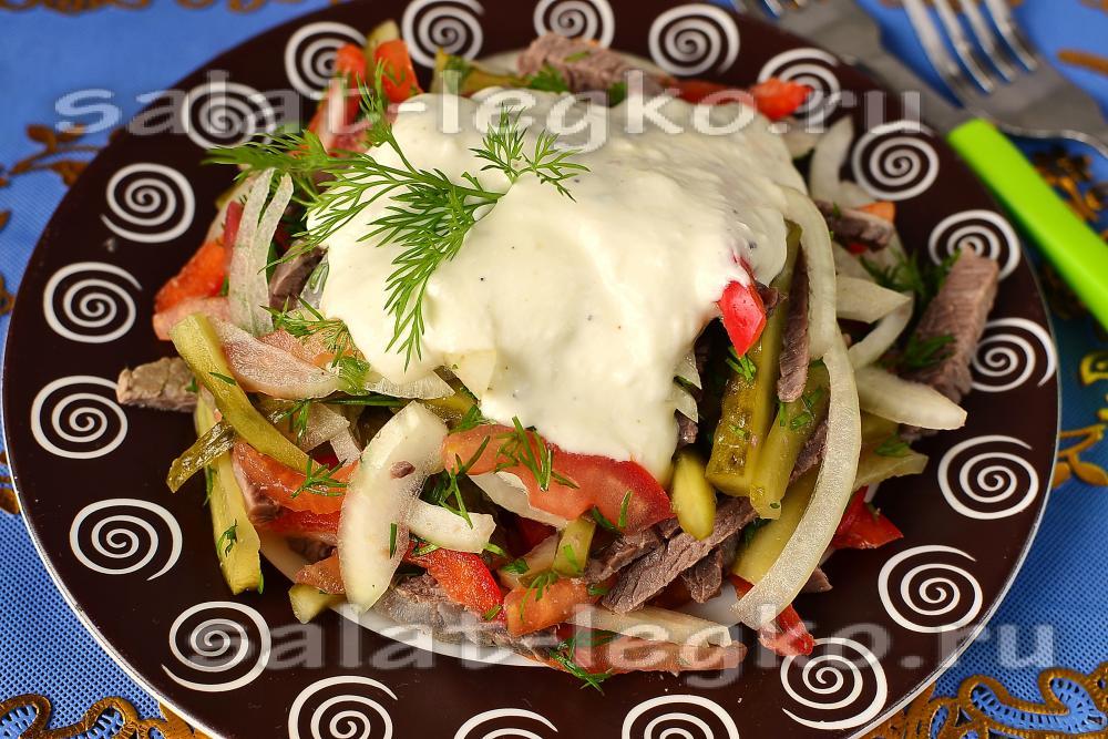 Теплые салаты из семгиы