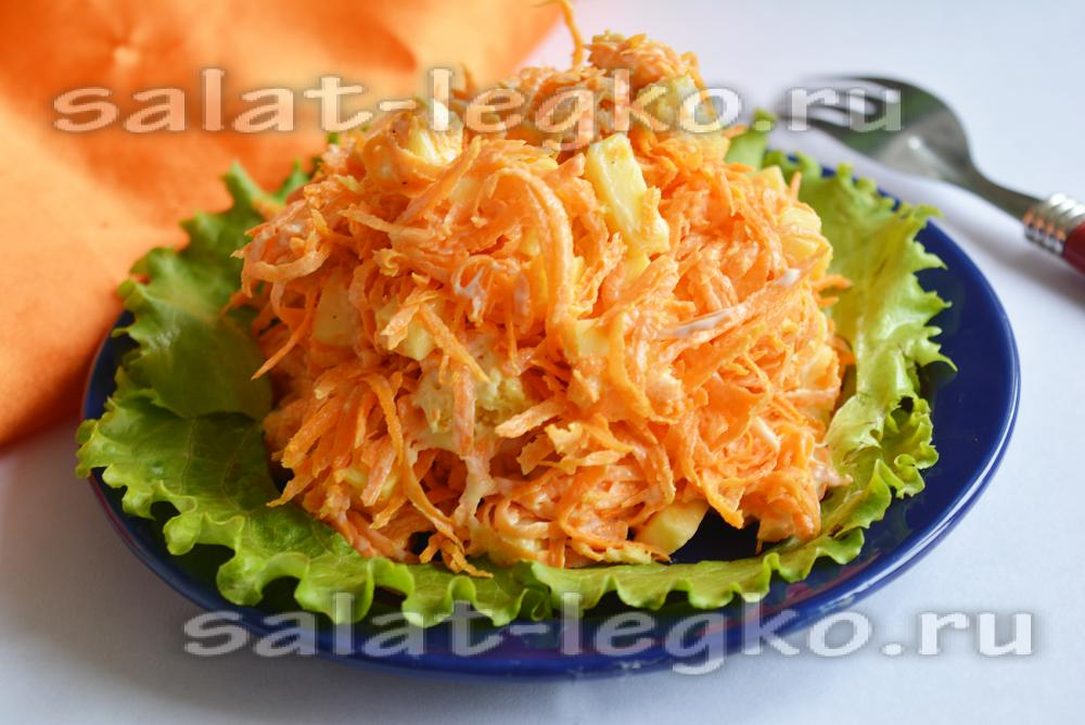 Салат с сухариками новый год