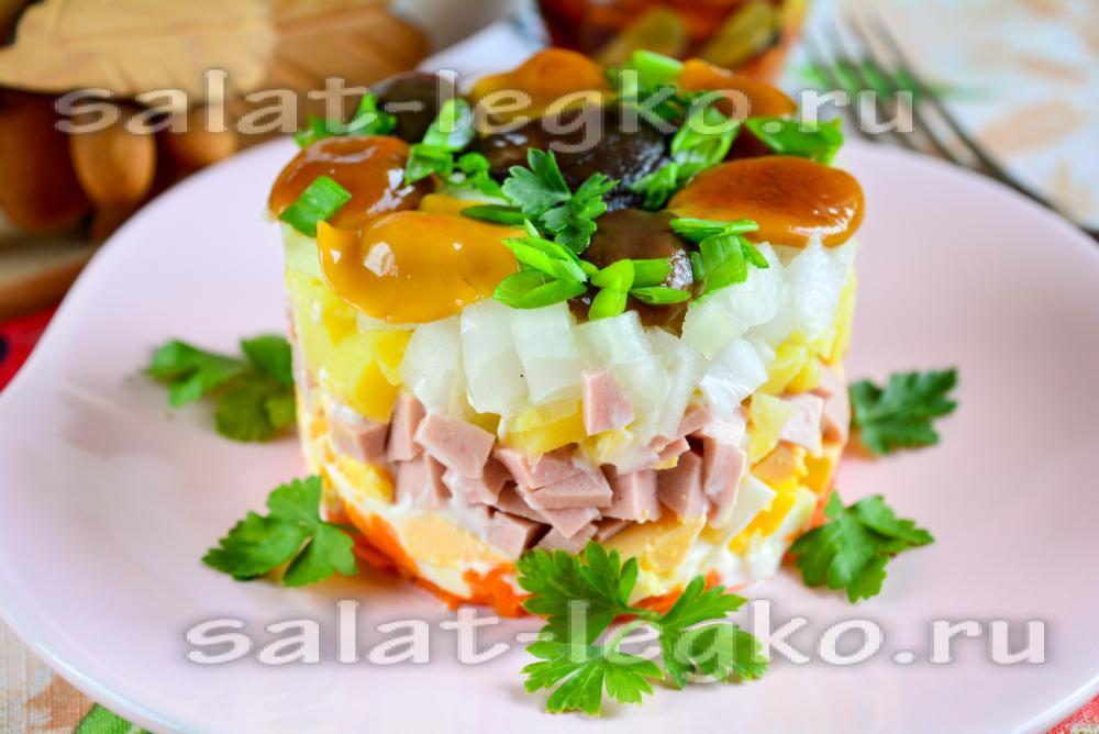 Грибной салат классический рецепт с