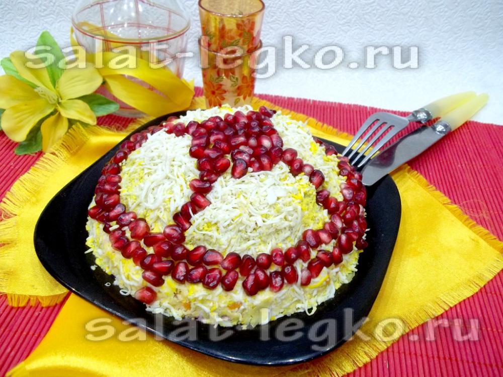 Рецепт салата шапка мономаха с пошагово