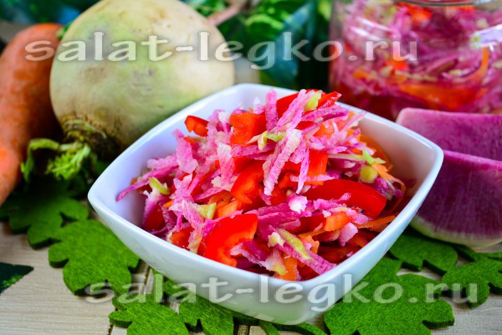салат в зиму из перца и капусты на зиму