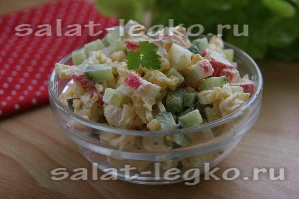 Салат из крабовых палочек простые рецепты с фото