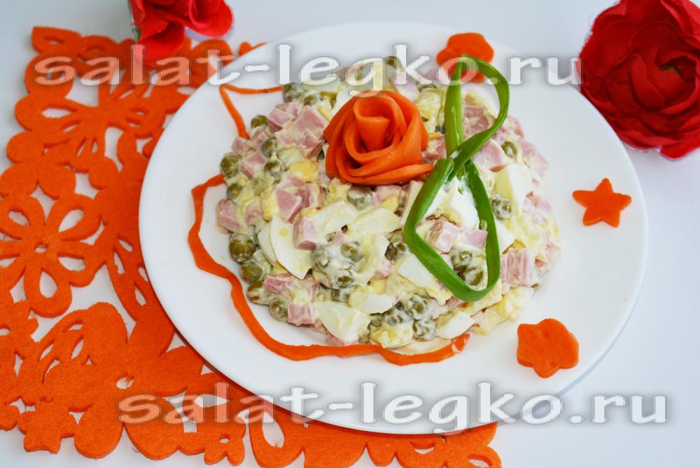 Рецепты салатов к юбилею
